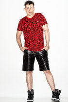 red animal print Puma shirt