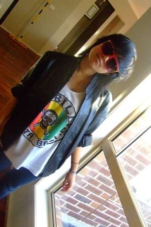 sunglasses - jacket - shirt - JayJays jeans