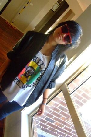 sunglasses - jacket - shirt - JayJays jeans