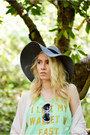 Charcoal-gray-h-m-hat-lime-green-wildfox-couture-top