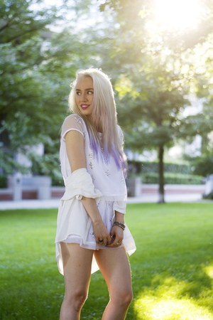 white Poison KS shorts - white Poison KS top