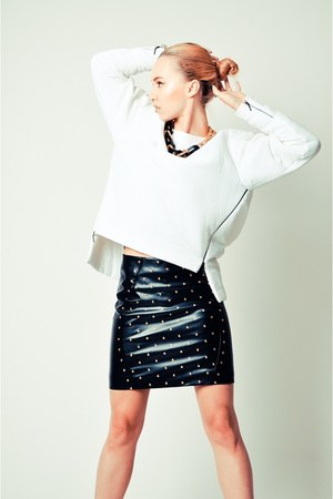 black studded Topshop skirt