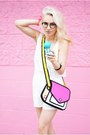 Hot-pink-2d-jump-from-paper-purse-white-for-elyse-romper