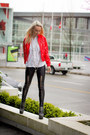 Red-kersh-jacket-black-jeffrey-campbell-heels