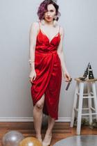 red Zimmermann dress