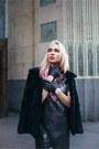 Silver-sugarhill-boutique-dress-black-fur-thrifted-jacket