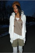 brown vintage hat - brown BCBG vest