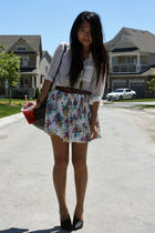 white H&M blouse - black Elizabeth & James shoes