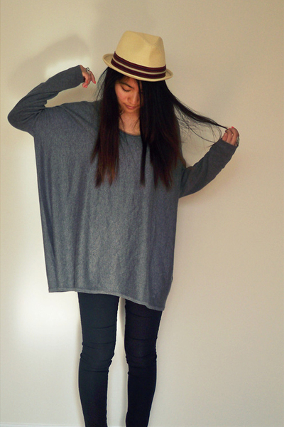 H&M sweater - f21 hat