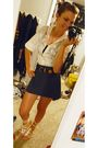 White-thrifted-blouse-blue-thrifted-belt-blue-thrifted-skirt-white-rue-21-