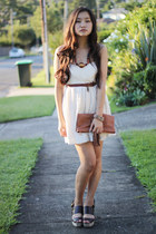 beginning boutique dress - Vintage Princess bag - asos heels