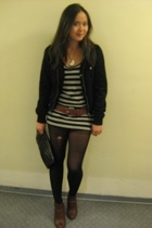 H&M jacket - H&M t-shirt - H&M belt - H&M boots - H&M purse