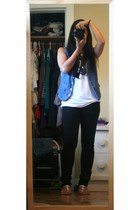 American Apparel top - Zara vest - jeans - Old Navy shoes