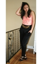 People are People top - Zara pants - H&M belt - Payless shoes