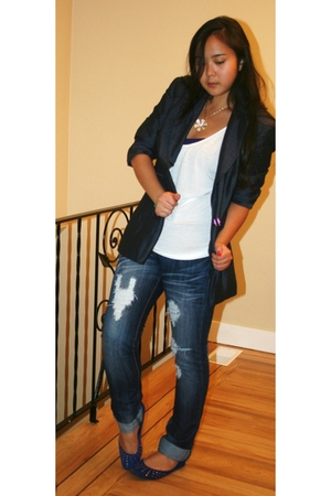 INC blazer - American Apparel top - roberto vianni shoes - 5th ave collection ac