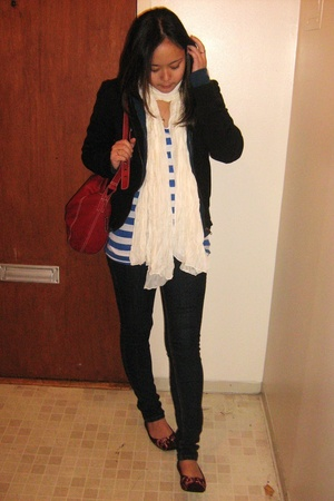 H&M top - H&M jacket - H&M scarf - Spring shoes