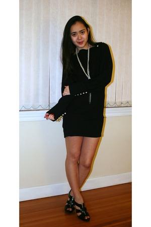 black Gliteratti dress - white Aldo accessories - black Spring shoes