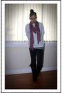 Pink-h-m-scarf-black-gojanecom-boots