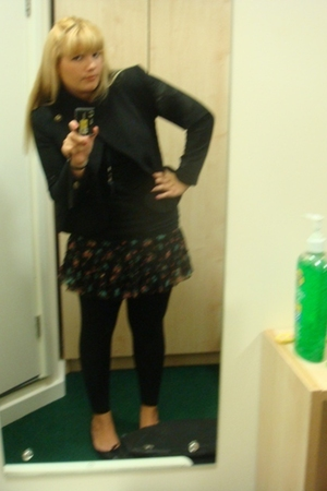 Zara jacket - Gap top - Charlotte Ronson leggings - H&M skirt - Office shoes - G