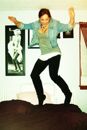 Target leggings - Steve Madden boots - vintage jacket - Target top - Victorias S