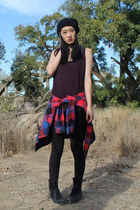 tank top H&M top - combat boots Marshalls boots - beanie Forever 21 hat