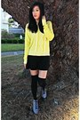 Booties-charlotte-russe-boots-neon-target-sweater-knee-high-socks-h-m-socks