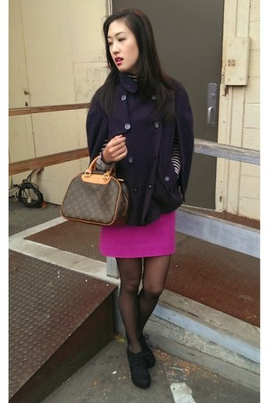 cape Forever 21 cape - turtleneck JCrew shirt - wool J Crew skirt