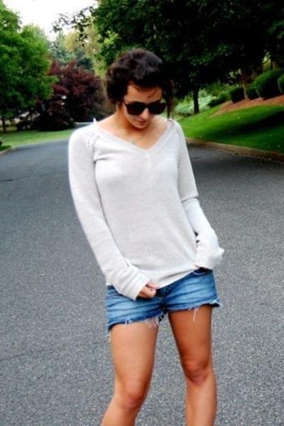 H&M shorts - Urban sunglasses - loehmanns sweater