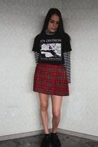 gifted shirt - vintage skirt - Demonia flats