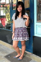 white Forever 21 shirt - Forever 21 skirt - Zara shoes