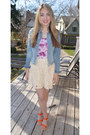 Sky-blue-h-m-jacket-cream-lace-forever-21-skirt