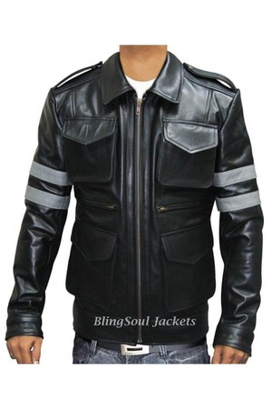 real leather Leon Kennedy Resident Evil 6 Jacket jacket
