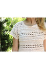 Black-american-apparel-jeans-cream-crochet-mossimo-supply-co-top