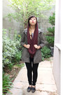Black-american-apparel-jeans-olive-green-forever-21-jacket