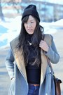 Black-lace-up-forever-21-boots-heather-gray-two-tone-wool-zara-coat