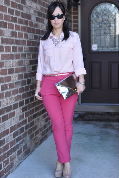 Light Pink Button Down Forever 21 Shirts, Silver Asos Purses ...