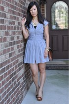 sky blue Forever 21 dress - brown Louis Vuitton bag
