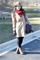 Mango coat - Kenneth Cole boots - Forever 21 hat - Zara bag