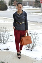 Forever 21 necklace - caramel satchel Mikko bag