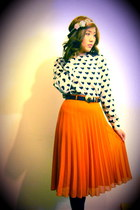 carrot orange Primark skirt