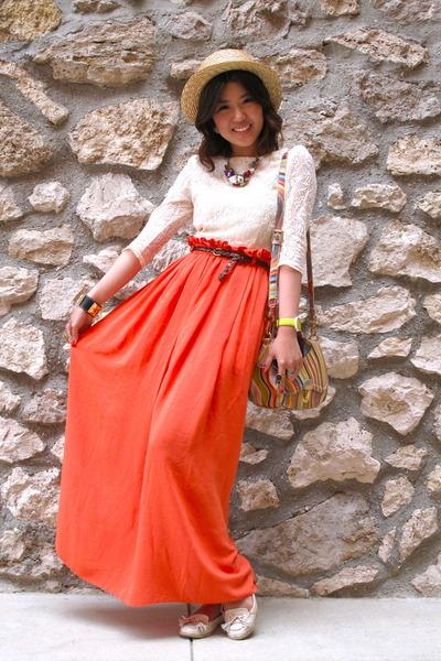 Ivory Lace Dress Topshop Dresses, Carrot Orange River Island ...