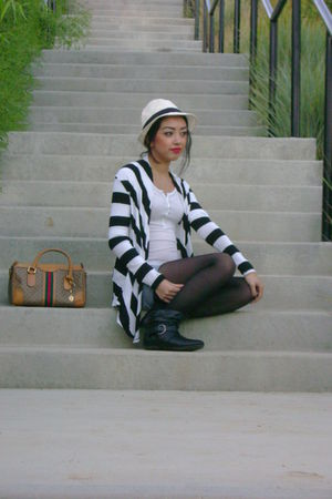 thrifted shorts - Forever 21 cardigan - Forever 21 boots - thrifted bag - Target