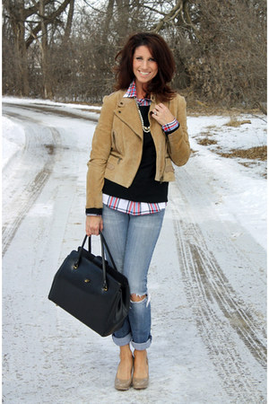 Bebe jacket - Juicy Couture jeans - Old Navy blouse