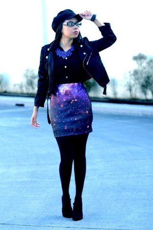 galaxy etherial vintage skirt - newspaper boy Accessorize hat