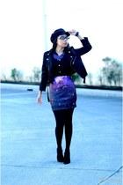 galaxy etherial vintage skirt - newspaper boy Accessorize hat