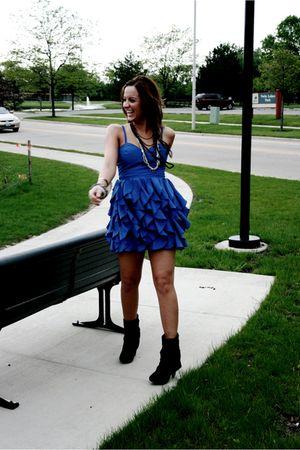blue Forever 21 dress - Aldo shoes