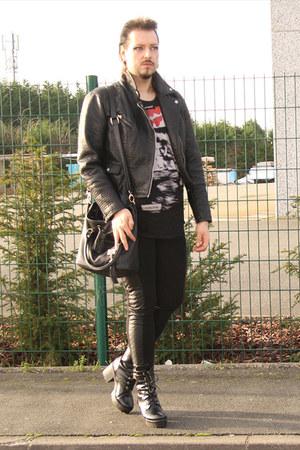 black Canda jacket - black KoKo leggings - black Tess heels