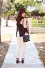 Black-leather-marc-jacobs-bag-black-suede-zara-sandals
