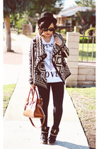 tribal Forever 21 cardigan - satchel Michael Kors bag