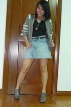 nike jacket - Fiorucci shoes - H&M accessories